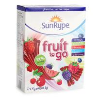 加拿大桑莱普 VC水果条宝宝零食SunRyPe混合口味72条进口水果条