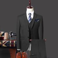 男士西服套装修身三件套职业正装新郎结婚礼服休闲韩版小西装服装