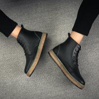 秋冬季马丁靴子男士高帮皮鞋工装沙漠短靴百搭英伦风复古潮流男靴