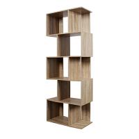 [当当自营]慧乐家 书柜书架 创意五层书架 不规格隔断置物架 法国香樟木色 11335