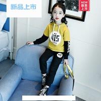 儿童装套装2018春秋装新款韩版女童宝宝套装女孩卫衣两件套运动装