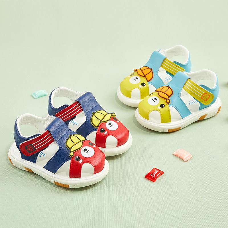 宝宝凉鞋男夏季婴儿叫叫鞋学步鞋子