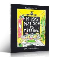 英文原版绘本 Miss Nelson Is Missing 尼尔森老师不见了 汪培�E第5阶段 James Marsha