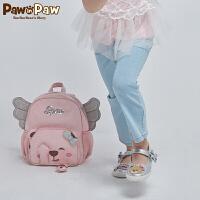 【2件3折 到手价:149】Pawinpaw卡通小熊童装春女童刺绣中小童水洗喇叭牛仔裤子