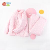 贝贝怡孕妇家居服套装新款秋冬夹棉加厚保暖产妇上衣裤子2件套