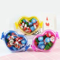 圣诞礼品儿童创意橡皮爱心造型盒装小学生玩具学习用品幼儿园礼物