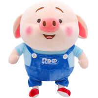 猪小屁公仔小猪玩偶毛绒玩具可爱大娃娃抱枕生日礼物女孩 天蓝色