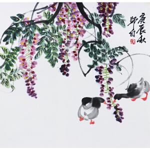 娄师白《禽戏图》中国画艺术大师