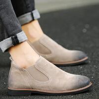 DAZED CONFUSED 马丁靴男低帮皮靴青少年休闲皮鞋男士短靴子学生皮秋季单鞋