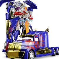 变形玩具汽车机器人模型手动变形儿童男孩礼物玩具
