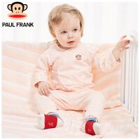 PWU1733008大嘴猴(Paul Frank)婴儿纯棉内衣套装婴儿内衣长袖系带套装
