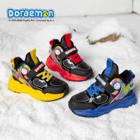 哆啦A梦男童棉鞋2020冬季加绒加厚二棉运动鞋中大童男孩儿童鞋子DL4804904