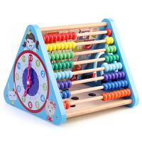 九功能珠算架宝宝积木1-2周岁1-3-6岁儿童启蒙早教玩具