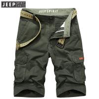 JEEP SPIRIT吉普 2018年夏季男士工装多袋休闲短裤CXP0222
