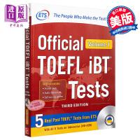 【中商原版】托福iBT官方指南1(第三版)英文原版 Official TOEFL IBT Tests Volume.1 [With DVD ROM]