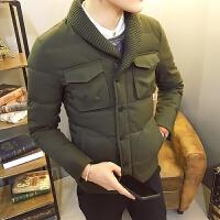 男棉衣外套青年修身棉袄潮流冬装衣服