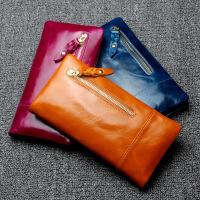 【春夏新品惠】新款男士钱夹牛皮长款女士真皮钱包大容量钱包手拿包零钱包