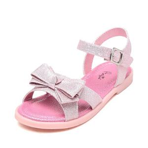 鞋柜儿童凉鞋 PINKII/苹绮休闲柔软防滑耐磨蝴蝶结女童单鞋平底鞋