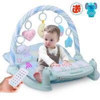 【下单立减100】米宝兔 婴儿健身架玩具婴儿摇铃挂件爬行垫脚踏钢琴玩具0-1岁