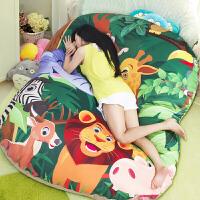 20180530184709772卡通懒人沙发创意儿童双人榻榻米床垫客厅卧室单人软床靠背 ★【豪华大号】★ 睡垫 (1