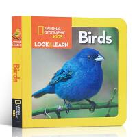 英文原版绘本 National Geographic Kids Look and Learn: Birds 鸟类纸板书