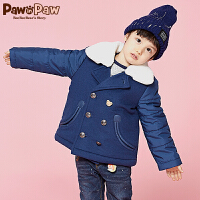【一口价:220】Pawinpaw宝英宝卡通小熊童装冬季款男童毛呢大衣