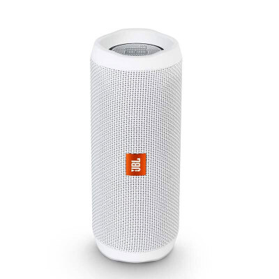 JBL Flip4 音乐万花筒4 珍珠白 蓝牙小音箱 音响 低音炮 便携迷你音响 音箱 用礼品卡购买JBL音响,上当当自营,防水设计!
