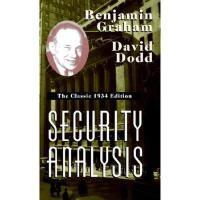 【预订】Security Analysis: The Classic 1934 Edition
