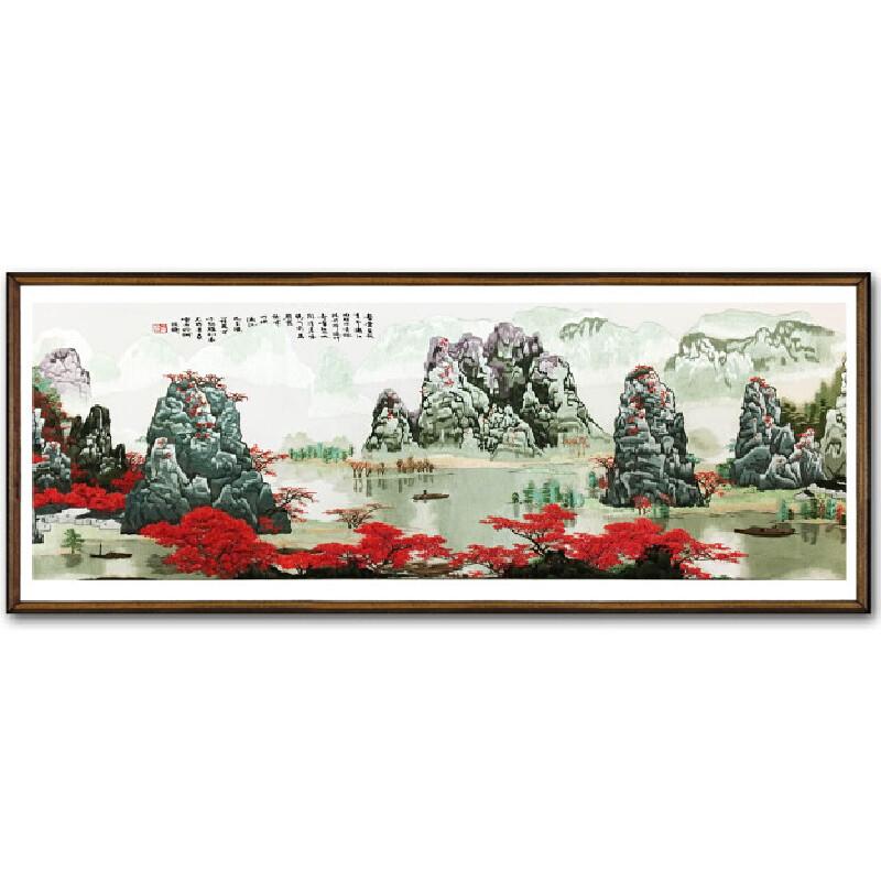 苏绣精品1.6米巨幅《奇峰峻岭》