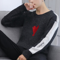 时尚男士针织衫上衣青年宽松长袖毛衣学生休闲冬季套头线衣潮