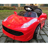 儿童电动车四轮跑车小孩可坐遥控汽车双驱电瓶摇摆童车宝宝玩具车法拉利电动车1