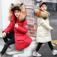 儿童羽绒服女中长款新款冬季宝宝韩版中大女童羽绒服童装