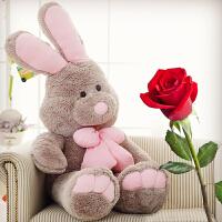 毛绒玩具兔子公仔美国邦尼兔玩偶大号布娃娃长耳兔生日礼物送女友