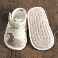 宝宝布凉鞋包头小孩学步鞋夏季婴幼儿步前鞋男