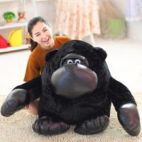 黑猩猩公仔大�可�垌n��布娃娃大猩猩玩偶�和�男孩小猴子毛�q玩具