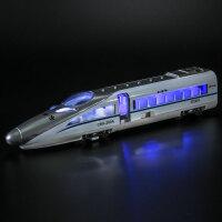 和谐号动车高铁模型 复古东风火车城市轻轨地铁合金儿童玩具声光