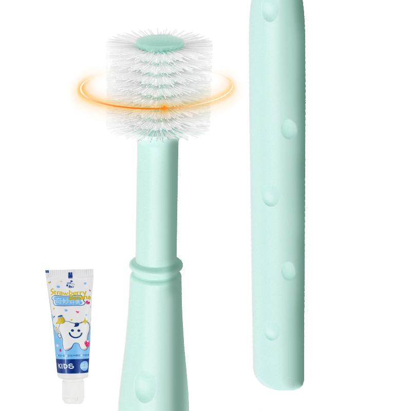 婴儿牙刷360幼儿童宝宝牙刷0-1-2-3-6岁软毛乳牙小头硅胶训练