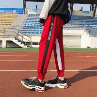 2018春季新款收口运动裤男士修身小脚束脚裤子韩版潮流弹力休闲裤