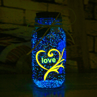夜光星星瓶 折纸许愿瓶荧光贴纸玻璃瓶520塑料管星空瓶七夕节礼物