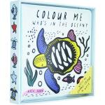 谁在大海里 Colour Me Who's in the Ocean 英文原版 防水浴室书 洗澡书 沾水即显颜色 书页