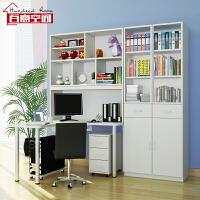 百意空间可定制书桌书架组合简约现代台式电脑桌收纳储物柜转角书桌书柜