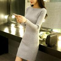 毛衣女秋冬装新款2018韩版中长款套头百搭宽松学生长袖针织打底衫