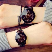 简约女中学生时尚潮流男士钢带石英情侣手表