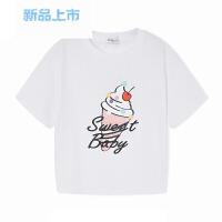 女童T恤 短袖儿童小童宝宝夏装2018新款童装甜美套头衫女