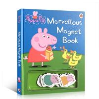 【全店300减100】Peppa Pig 粉红猪小妹小猪佩奇英文原版 Marvellous Magnet Book 不可