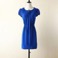夏季女装韩版大码连衣裙中长修身显瘦雪纺A字裙子