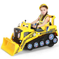 锋达儿童挖掘机可坐大号电动挖土机男孩玩具工程童车推土机2-6岁品质定制新品 2810 官方标配