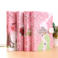 日式樱花创意记事本A5小清新韩版手账本笔记本学生文具日记本子