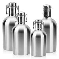 啤酒桶304不锈钢随身白酒壶大容量户外便携水壶家用空酒瓶酒具