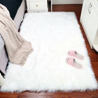 卧室床边毯客厅地垫仿羊毛拍照毯房间长方形地毯飘窗垫长毛绒家用